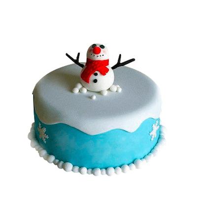 Торт сніговичок