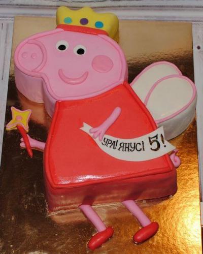 Торт свинка пеппа для дівчинки
