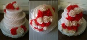Торт весільні квіти