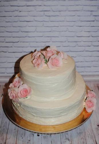Весільний торт без мастики
