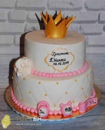 Торт на хрестини для Діаночки