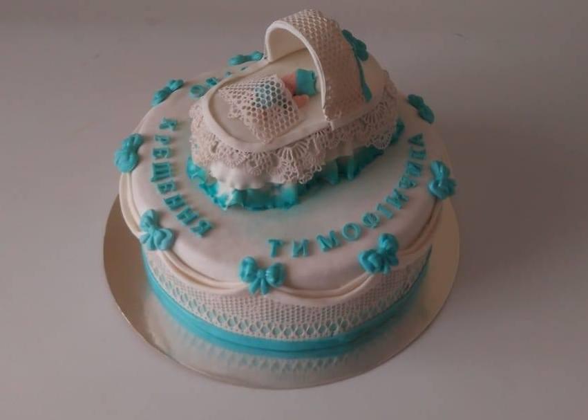 Торт на хрестини тимофійчика