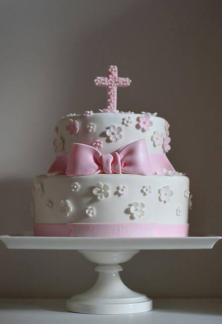 Тортик на хрещення дівчинки