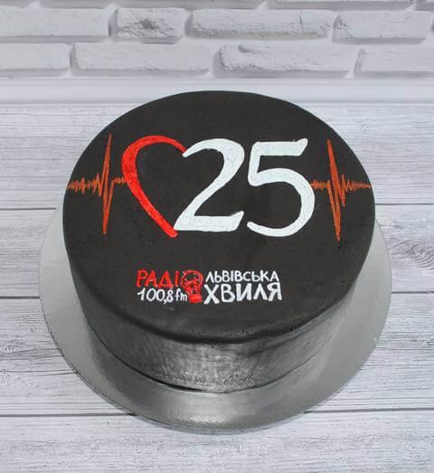 Торт на корпоратив, день народження радіо львівська хвиля